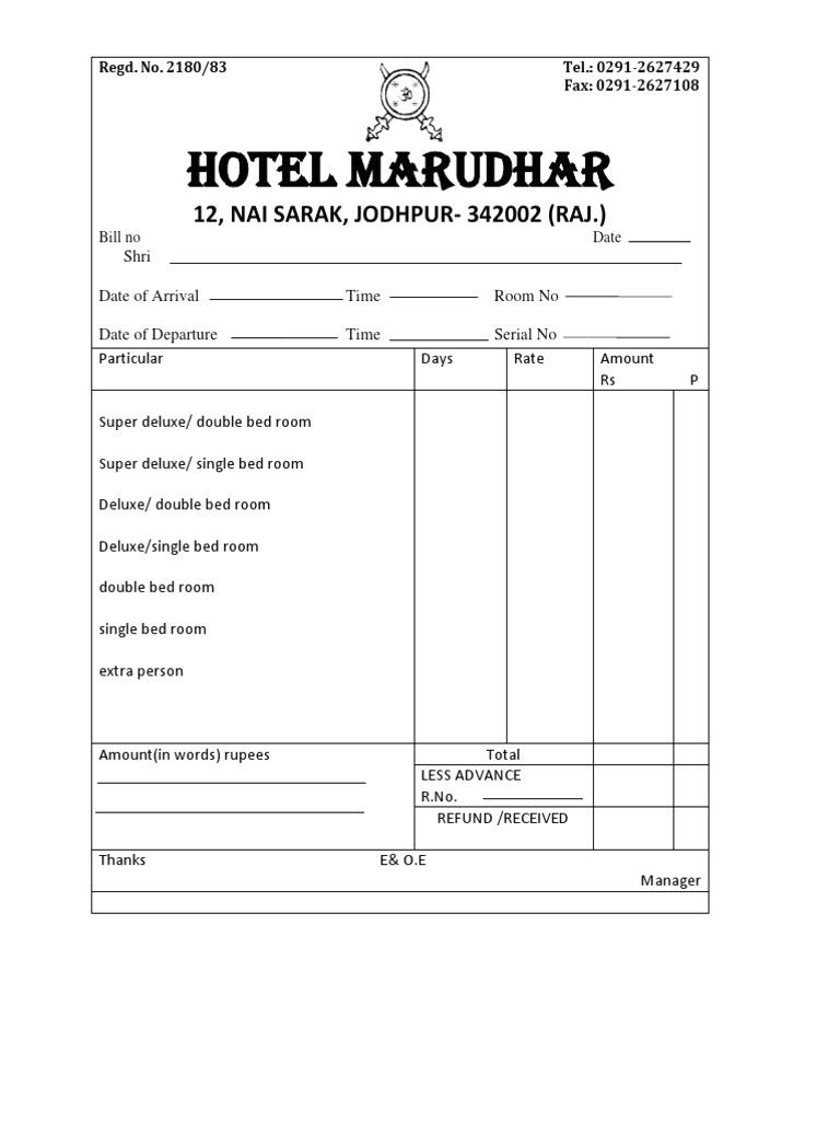 lodge bill format 4 bahamas schools bill template hotel bill with gst