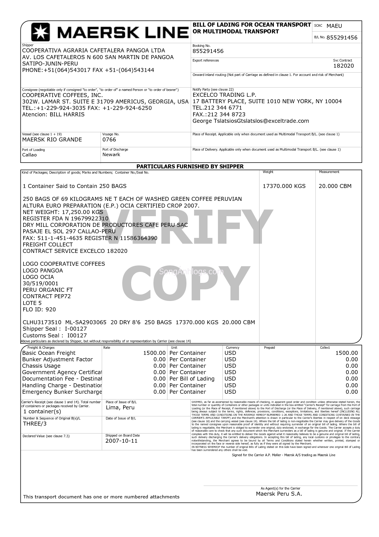 mu chi tit vn n bill of lading bill of lading commercial invoice of maersk