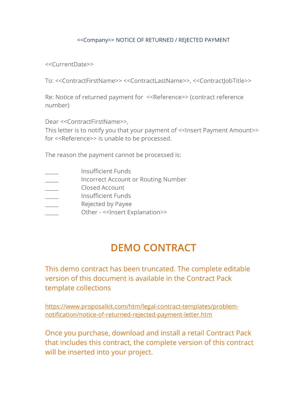 notice of rejected payment letter 3 easy steps rejection of bills letter