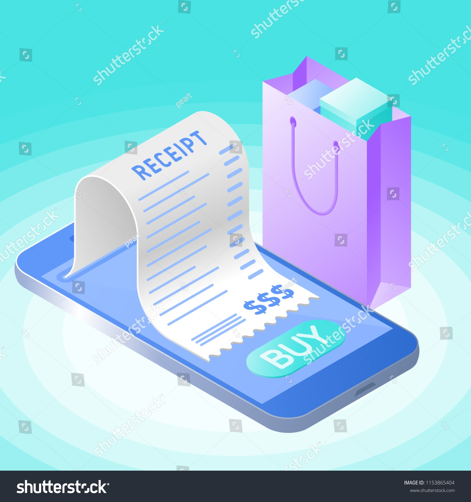 online bill purchase mobile phone paper stock vector mobile phone purchase bill