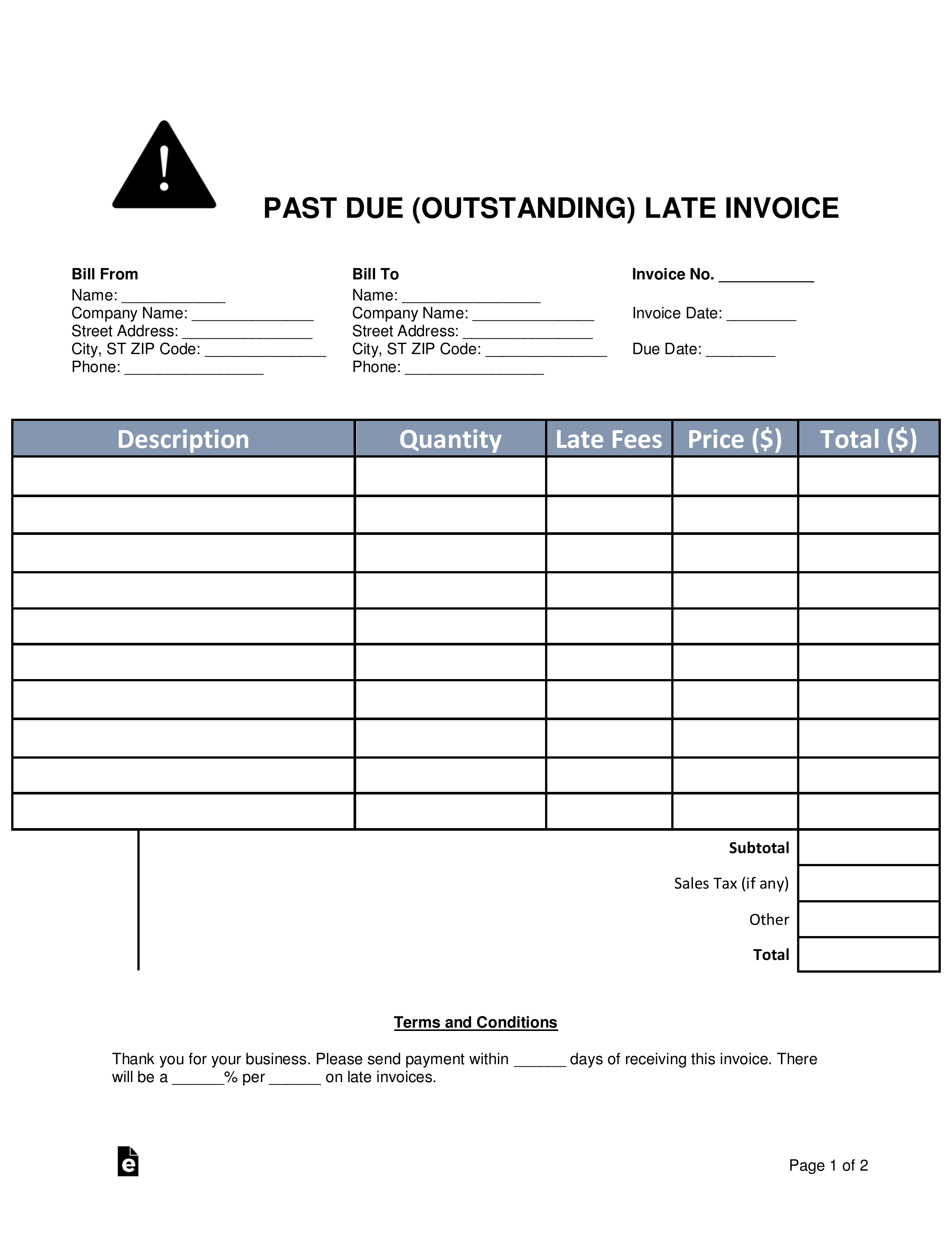 past due invoice template colonarsd7 invoice templates for cleaning business