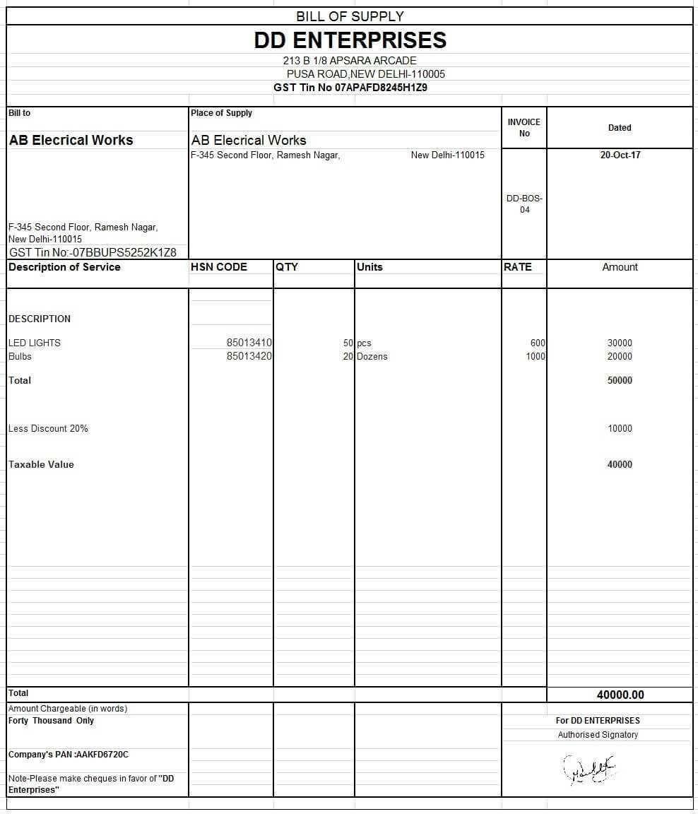 pin kart on invoice format invoice format format of gst bill
