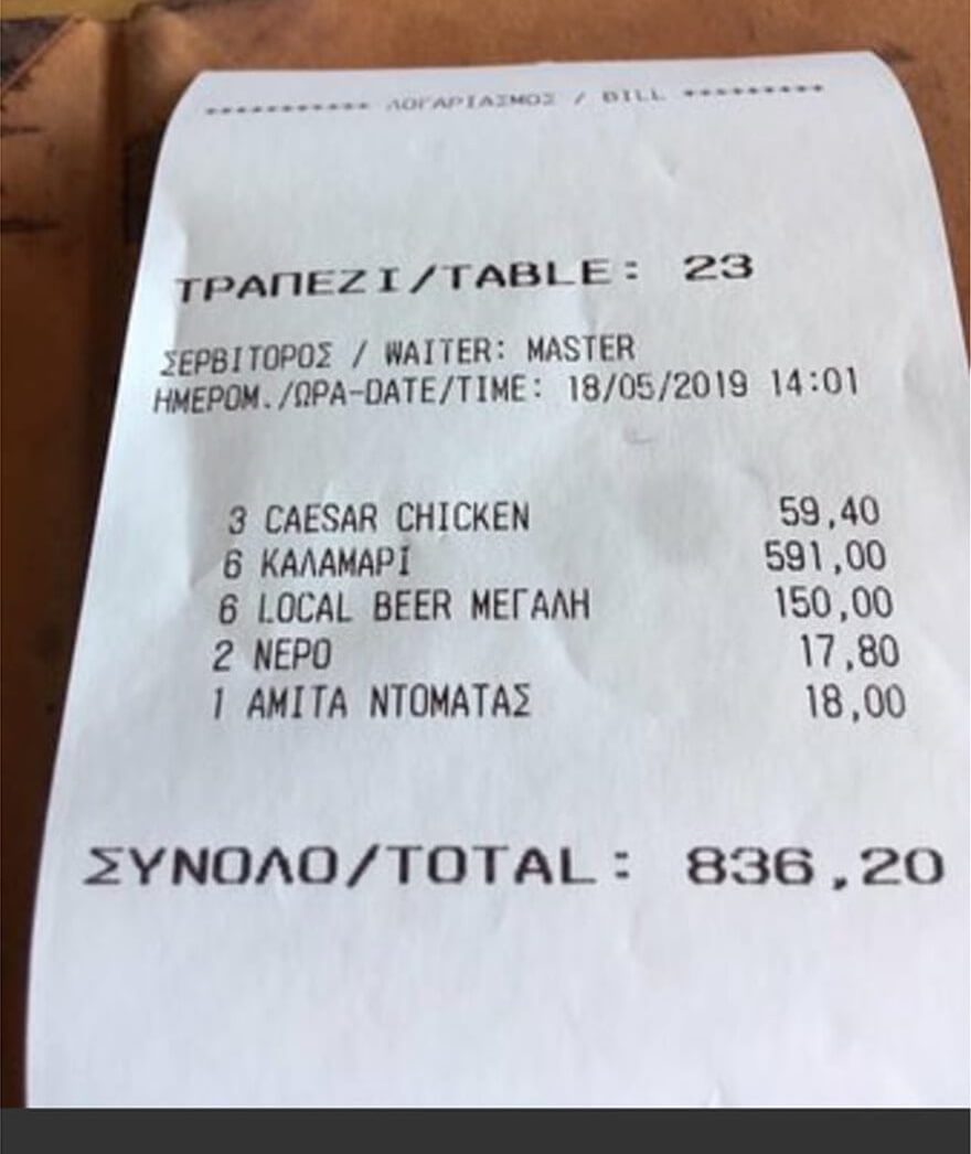 rip off greek style us tourists charged 937 for simple hotel receipts from greece