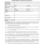 Basic Snow Plow Contract Free