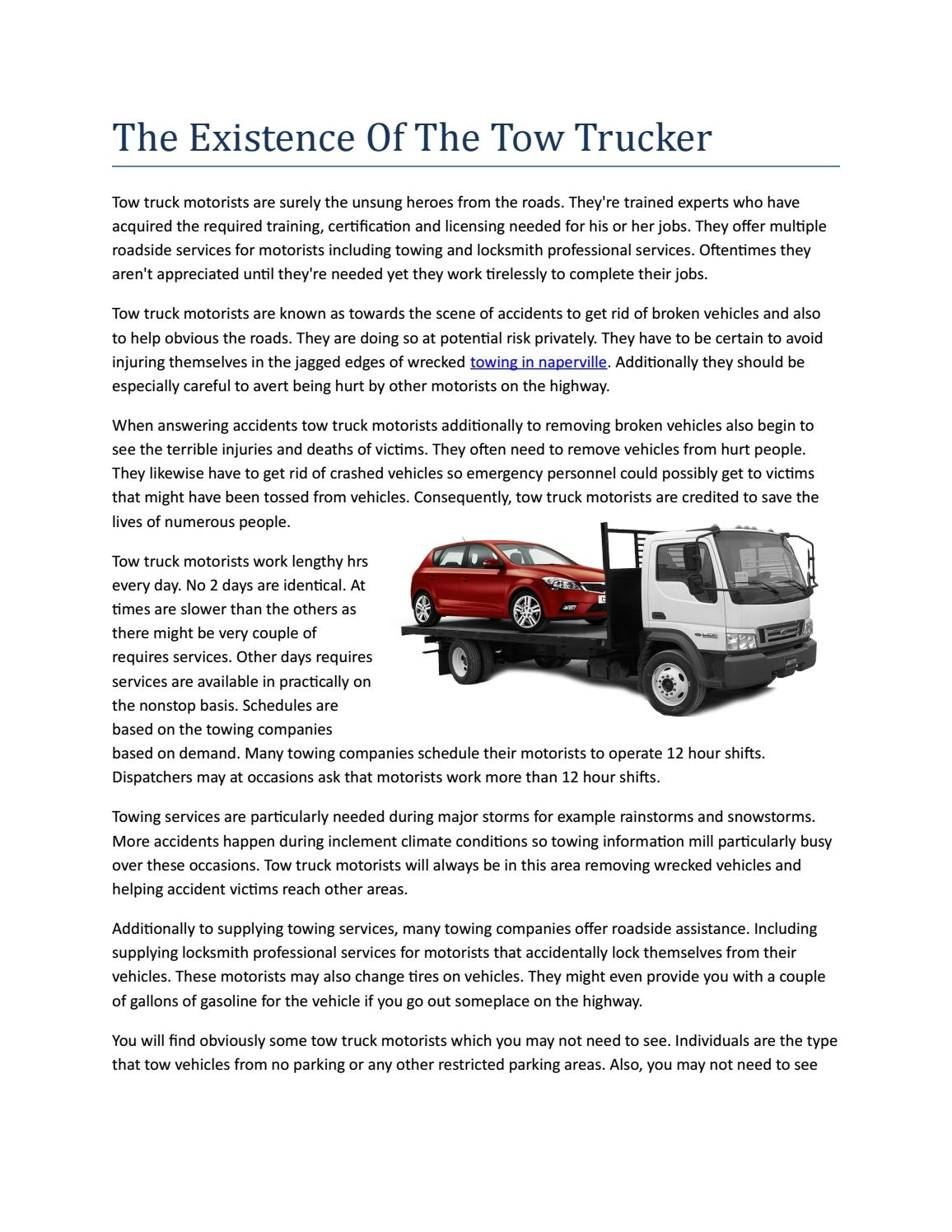 the existence of the tow trucker decent zain issuu examples of towing service brochures