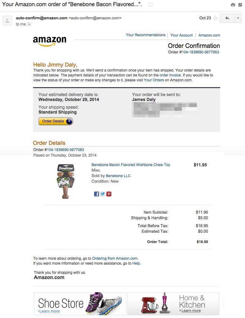 amazon email receipt invoice layout email design image of invoice for amazon