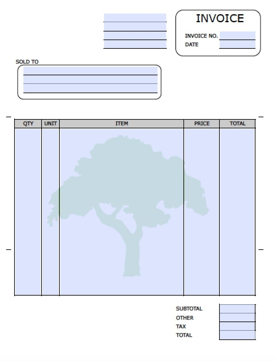 free landscaping lawn care service invoice template excel landscaping editable invoice template excel