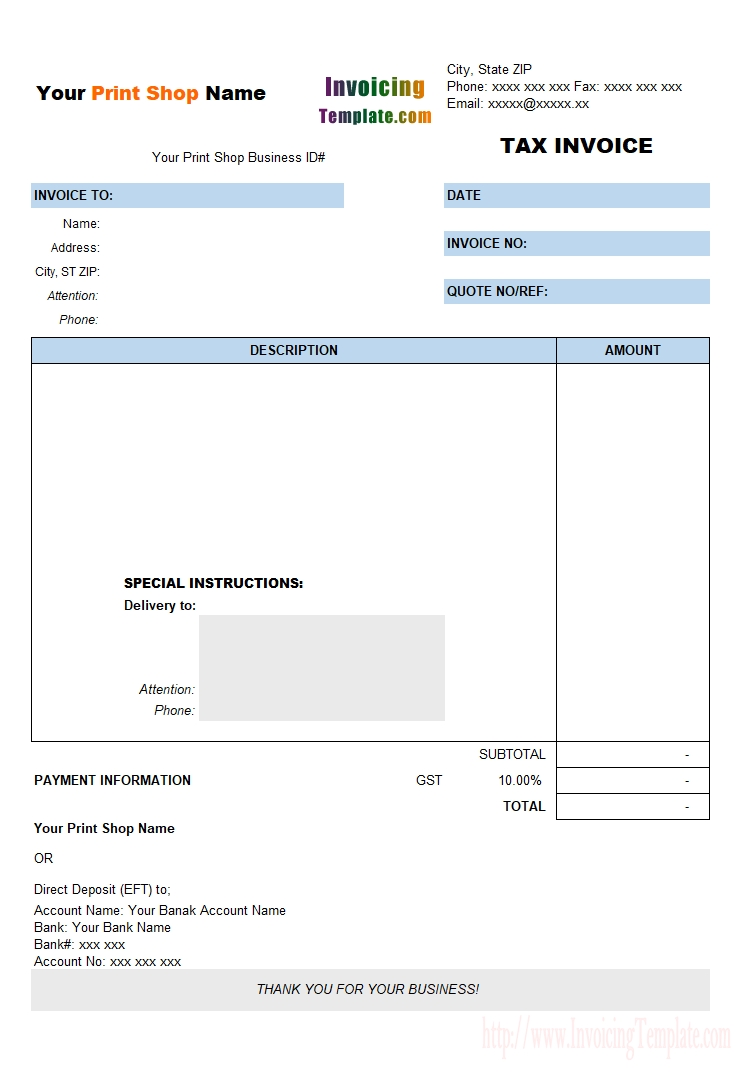 free printable invoice templates 20 results found tax invoice template from printers