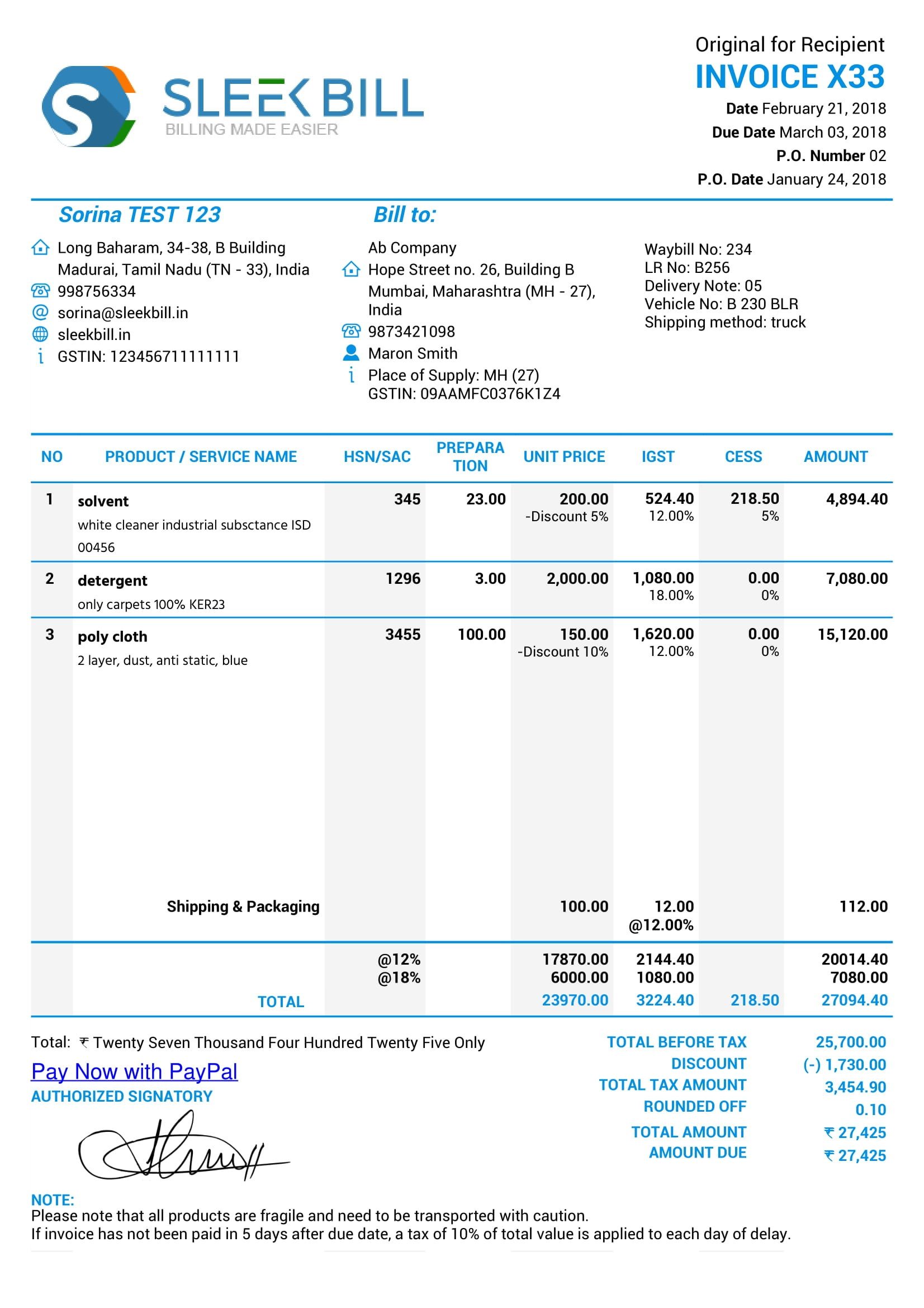 gst invoice format gst all bills format picture