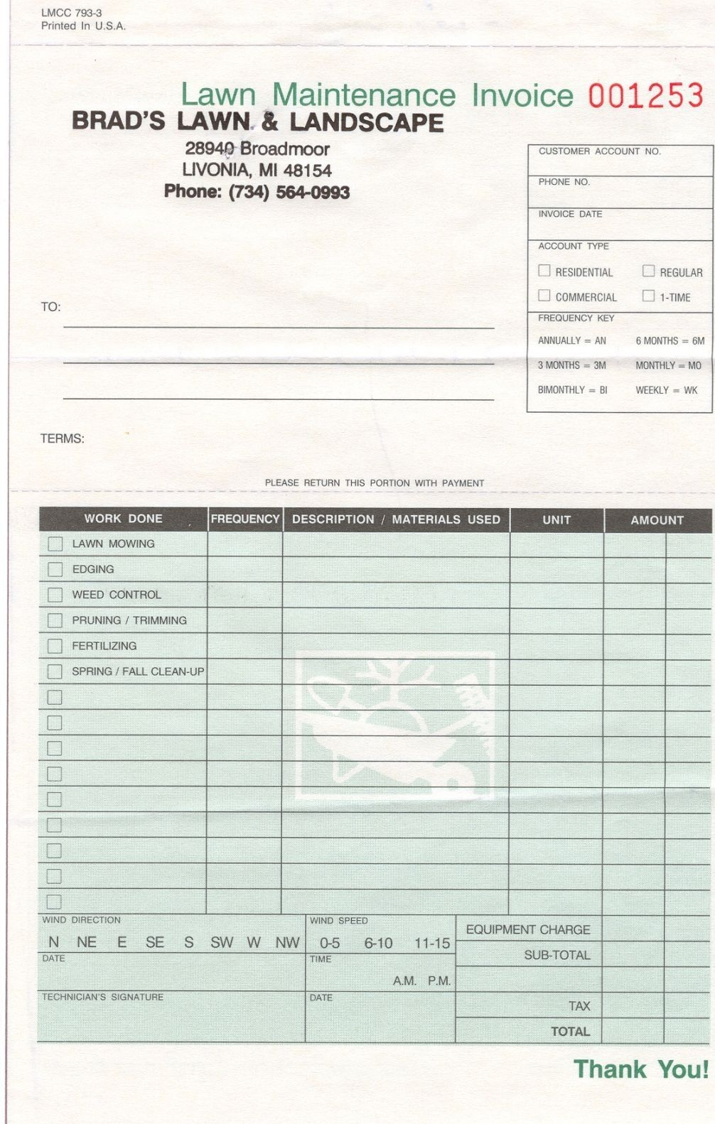 landscape invoice template invoicegenerator landscaping landscaping editable invoice template excel