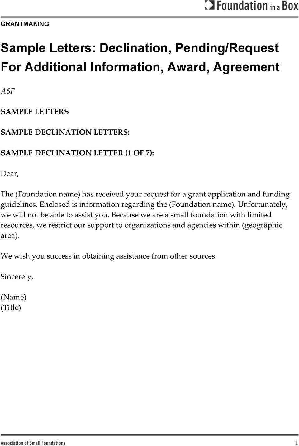 sample letters declination pendingrequest for additional invoice declination sample letter