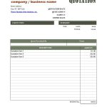 Quotation Format In Excel Download