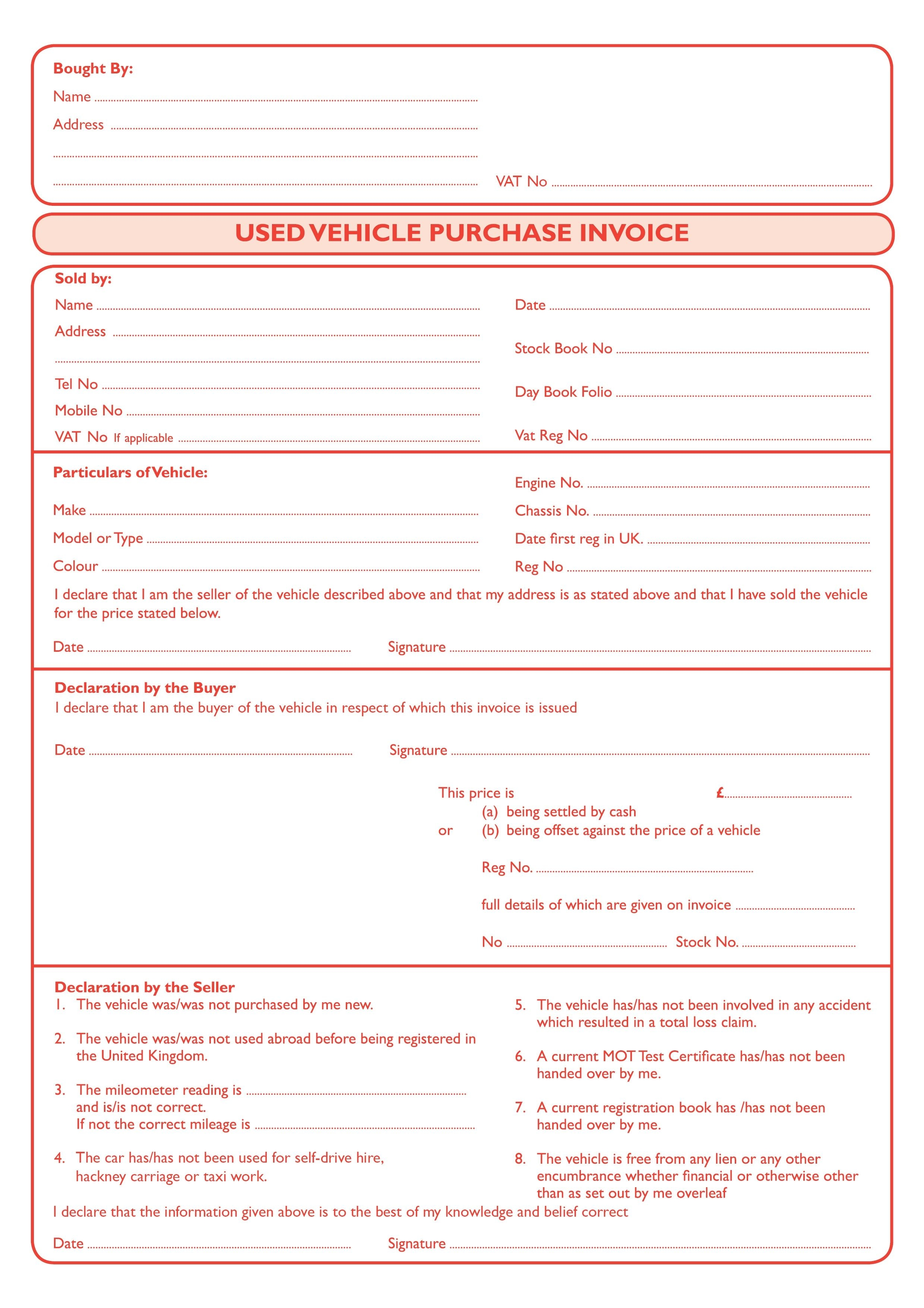 bristol based suppliers of printed stationery for all used car sales receipt template uk