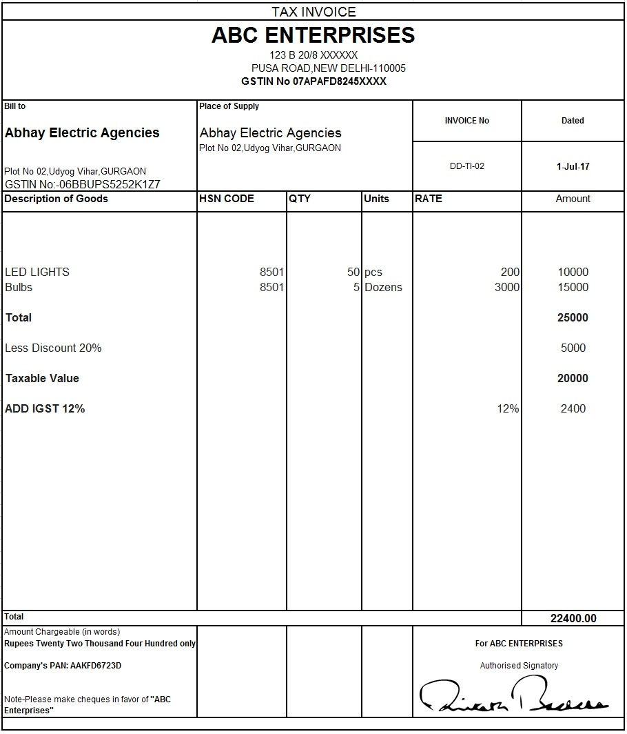 download excel format of tax invoice in gst gst invoice format sample of a tax invoice