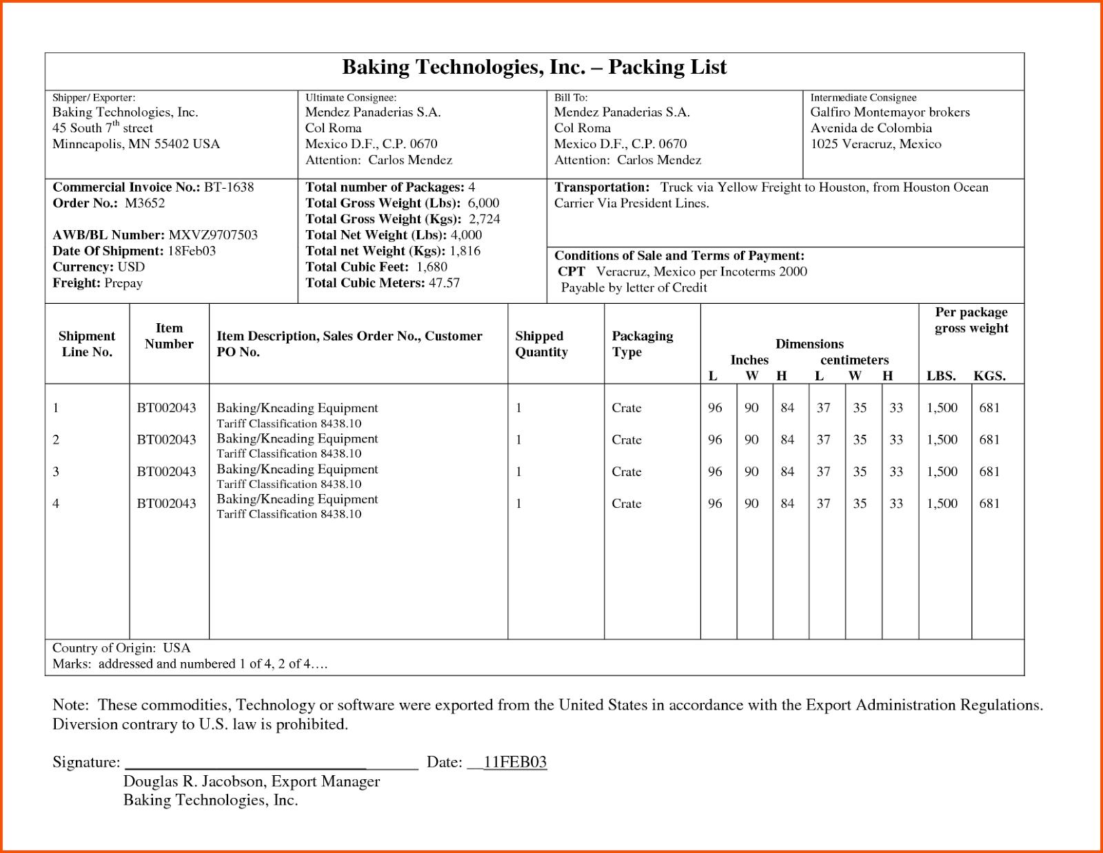 el packing list definicin contenido y modelos diario plantillas de packing list comerciales