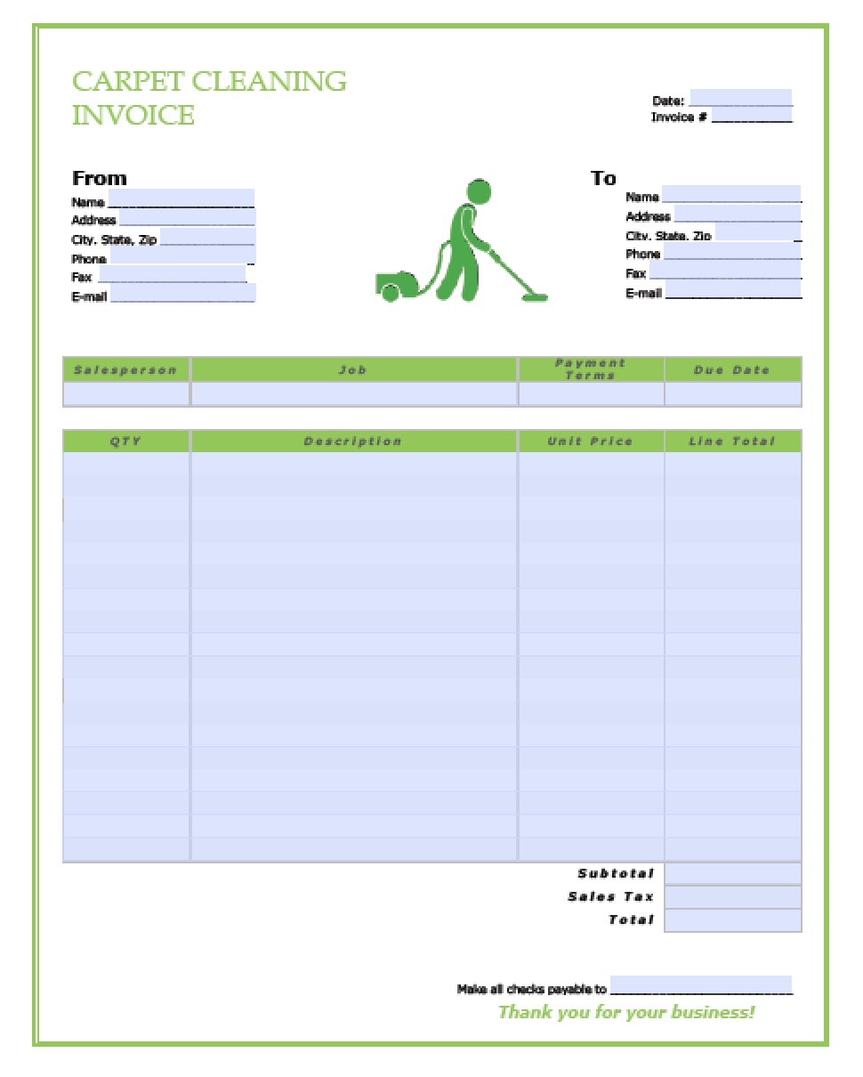 free carpet cleaning service invoice template pdf word carpet cleaning invoice sample