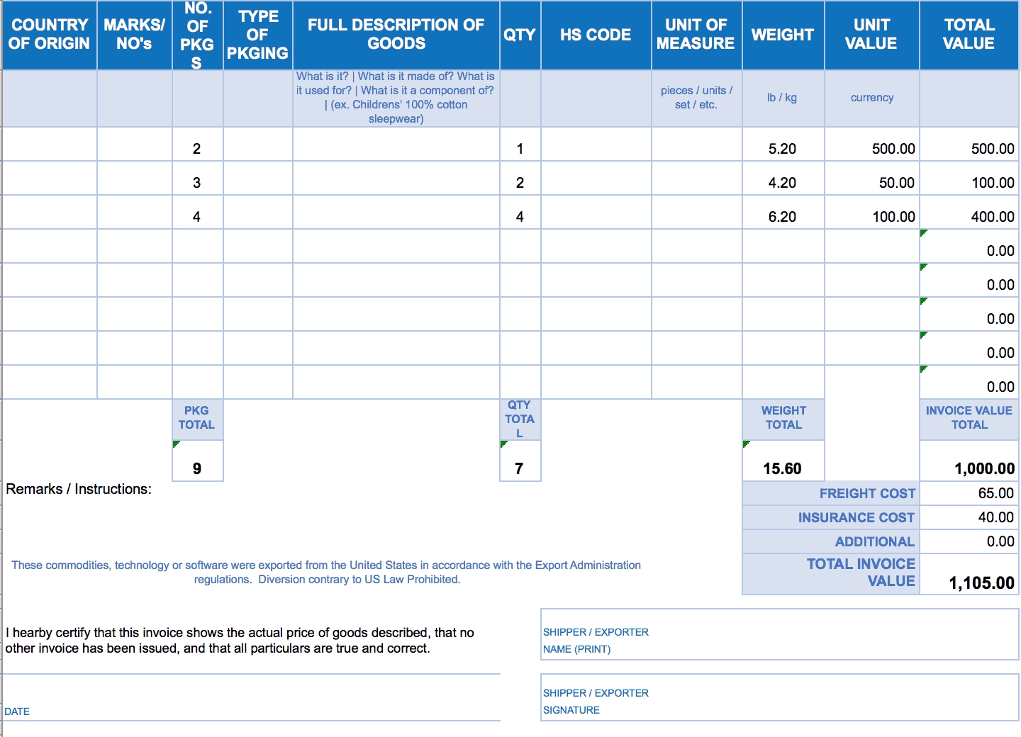 free excel invoice templates smartsheet bill invoice format in excel free download