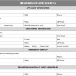 Membership Application Form Template Free