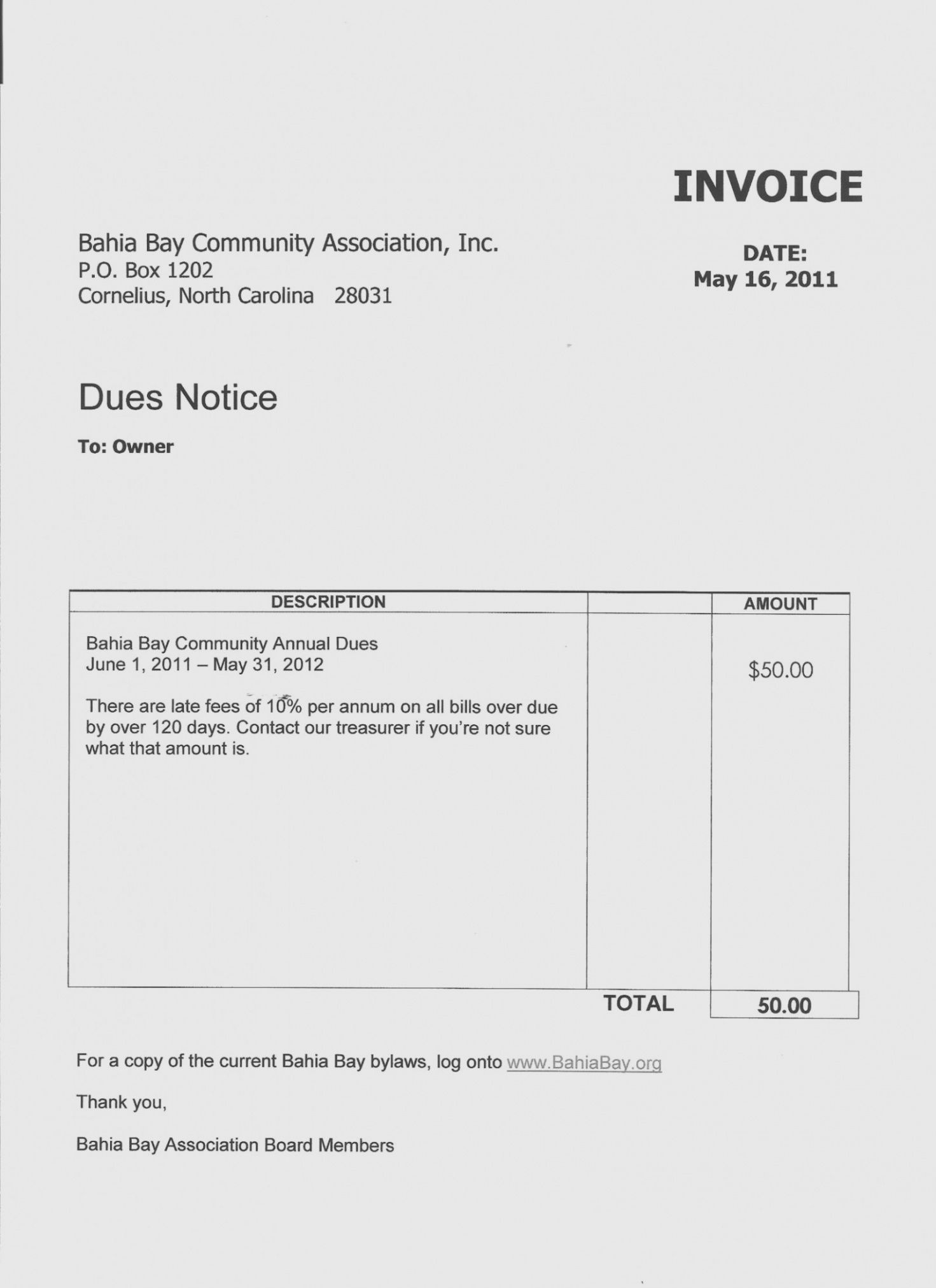 printable homeowners association dues invoice template invoice template of toyota