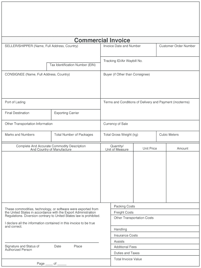 proforma invoice template fedex fill online printable proforma invoice for fed ex